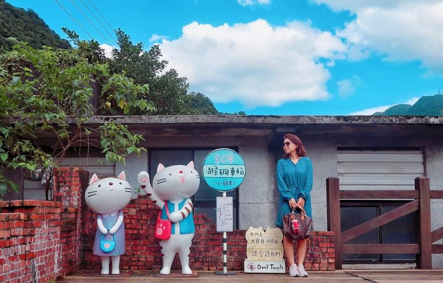 新北旅遊景點/瑞芳猴硐貓村,親近貓咪了解煤礦業歷史,開車乘火車來都很便利的休閒憩處