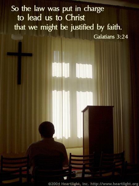 Inspirational illustration of Galatians 3:24