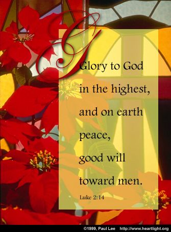 Luke 214 Illustrated Glory To God In The Highest