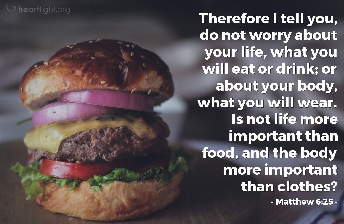 Matthew 6 25