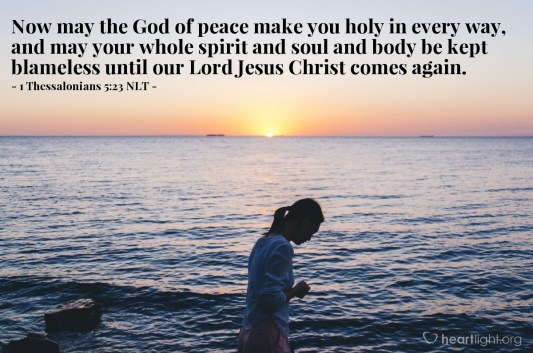 Image result for Bible image 1 Thessalonians 5:23
