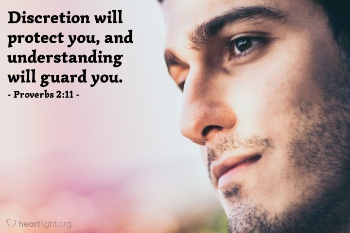Illustration of Proverbs 2:11 — Discretion will protect you, and understanding will guard you.