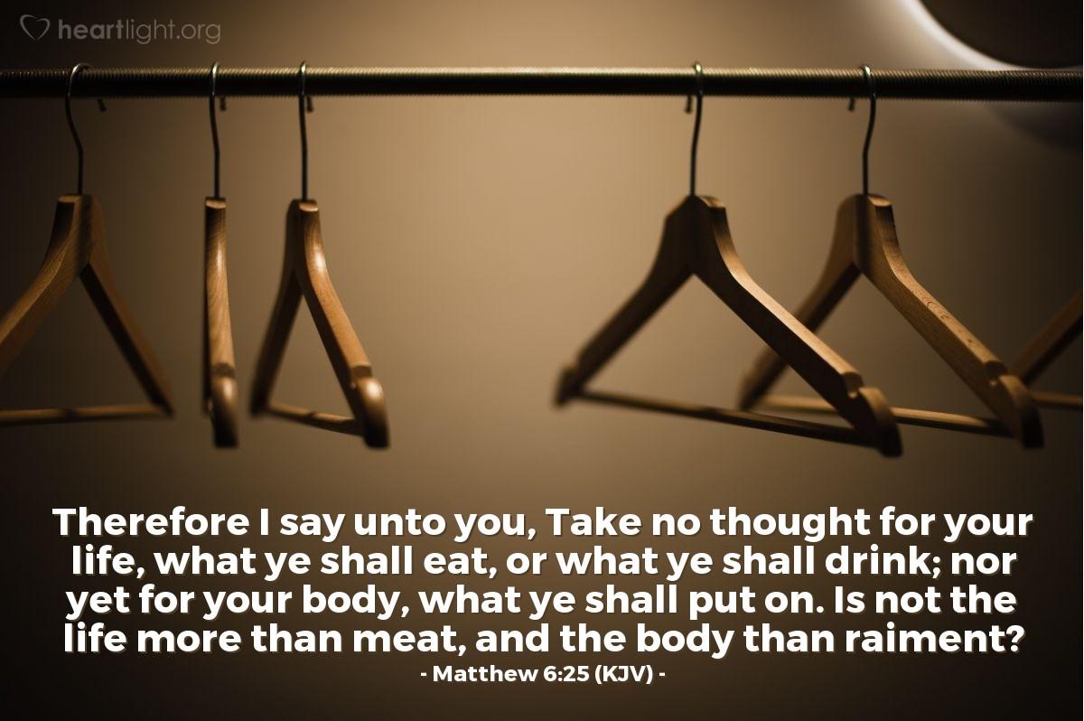 Matthew 6 25 Kjv
