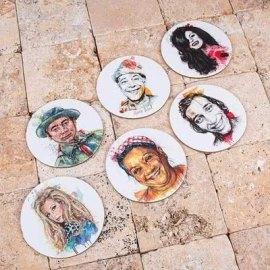 Türk Filmleri Efsaneleri Bardak Altlığı Seti