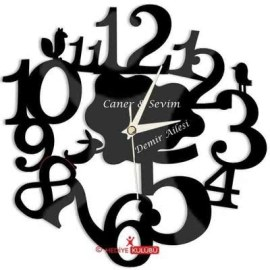 Sevgiliye Hediye Akrilik Duvar Saati