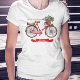 Bisiklet Sürmeyi Seven Bayanlara Özel Tişört