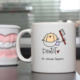 Diş Hekimi Arkadaşa Özel Hediye Kupa Bardak