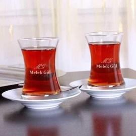 Arkadaşa Özel Bayram Hediyesi Çay Bardağı Seti