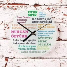 Öğretmene Hediye Klasik Sözler Duvar Saati