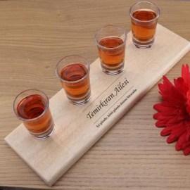Arkadaşa Özel Yeni Yıl Hediyesi Shot Bardağı Ve Tepsi Seti