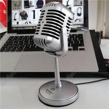 Nostaljik Masa Mikrofonu