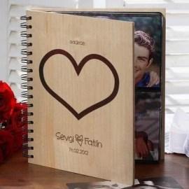 Sevgililer Günü Hediyesi Ahşap Albüm