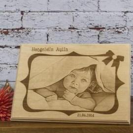 Sevdiklerinize Bebek Hediyesi Ahşap Foto