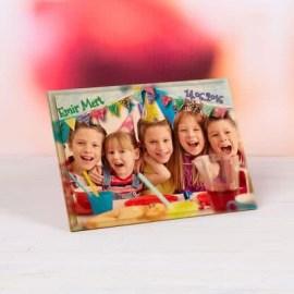 Doğum Günü Hediyesi Baskılı Mini Ahşap Foto