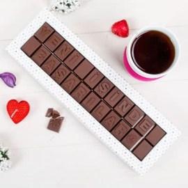 Sevgiliye Özel Hediye Mesajlı Harf Çikolata