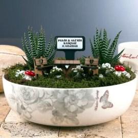 Sevdiklerinize Özel Desenli Minyatür Bahçe