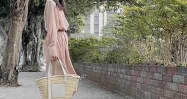 [日常穿搭] Loewe藤編包+韓貨洋裝+Tory Burch皮帶+Sam Edelman鞋(大人風的藤編包穿搭)