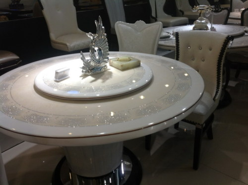 Round Marble 10 Seater Dining With Lazy Susuan Furniture T160 160 Manufacturer From China Ntuple Furniture Co Ltd