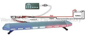 Emergency LED Full light bars for Police Construction, EMS