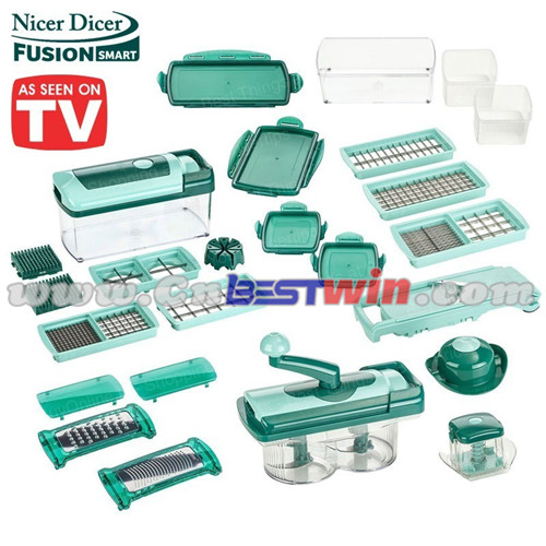 13PC NICER DICER FUSION VEGETABLE SLICER 2016 NEW ITEMS