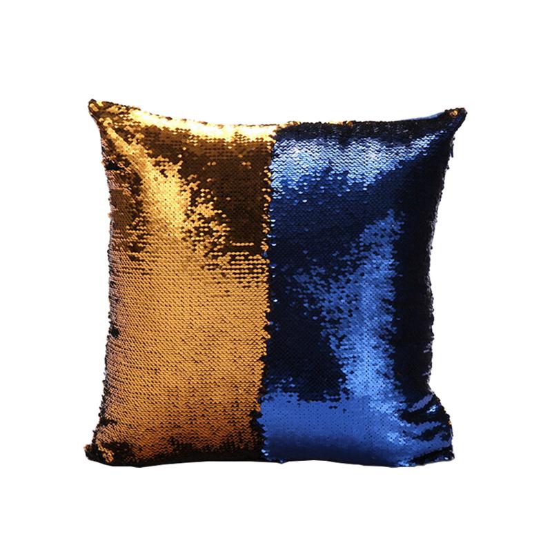 Mermaid Pillow Cover GoldBlue Change Color Sequins