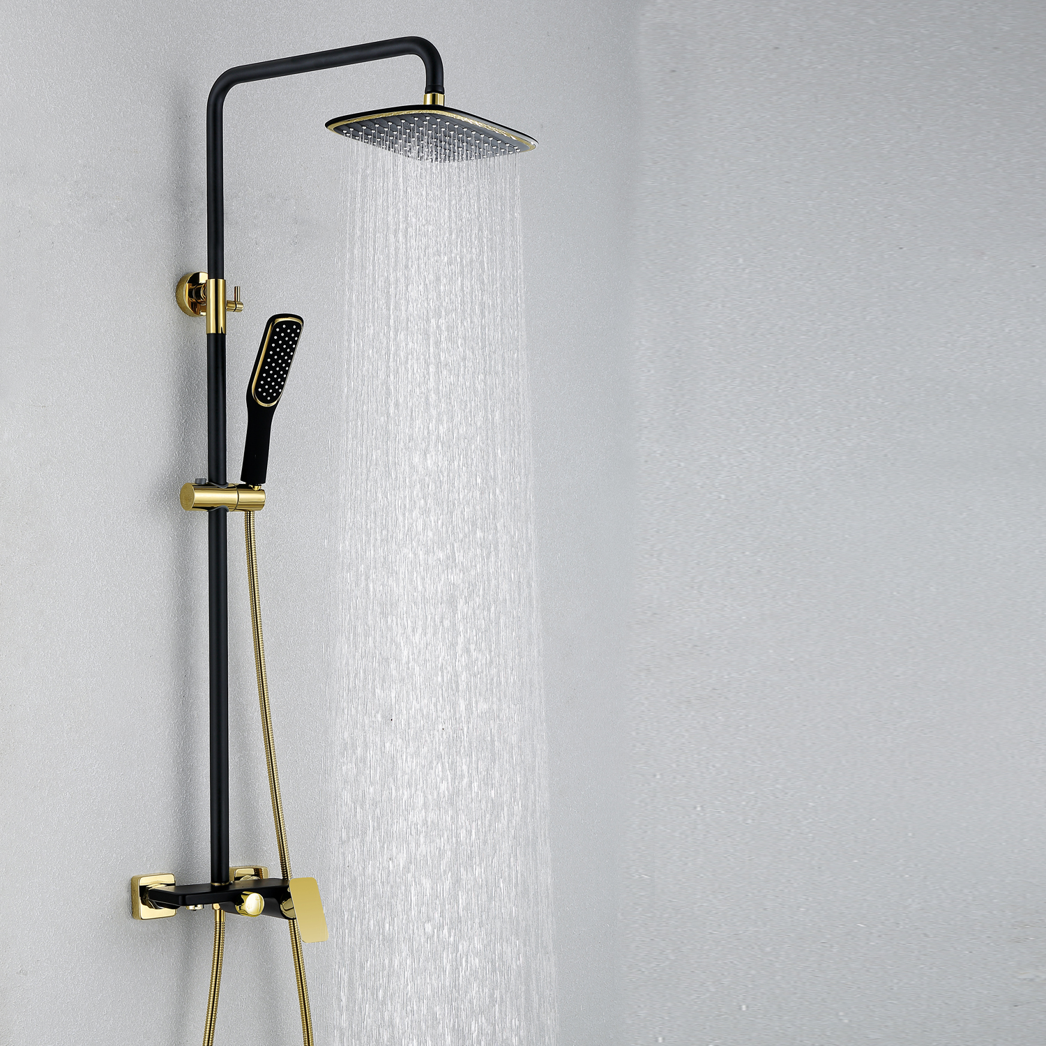 European Modern Copper Shower Sets Hot And Cold Shower