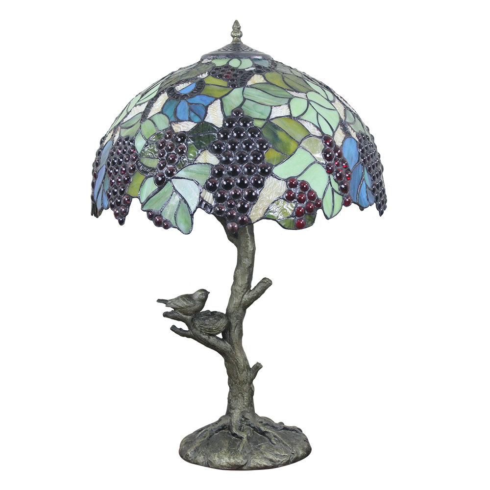 16inch European Retro Style Table Lamp Trunk And Birds