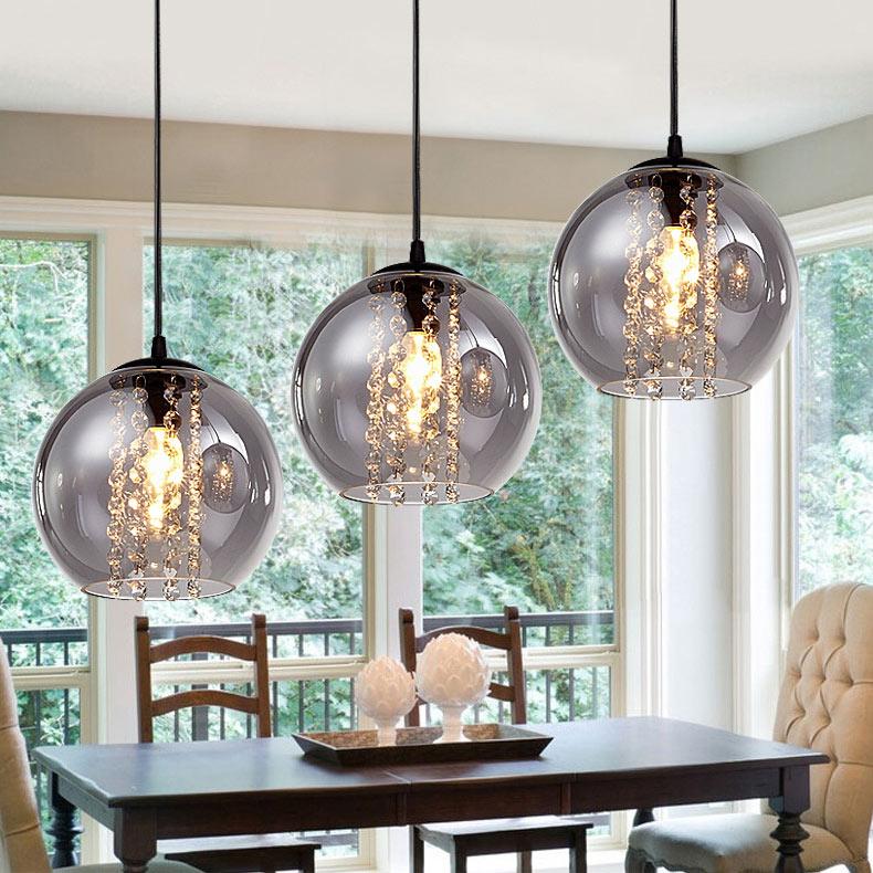 Glass Ball 3 Light Kitchen Island Pendant Light Dining Room Lighting Ideas Living Room Bedroom Ceiling Lights