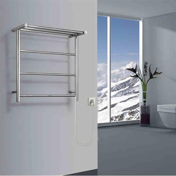 40w Modern Simple Style Towel Warmer Silver Wall Mounted