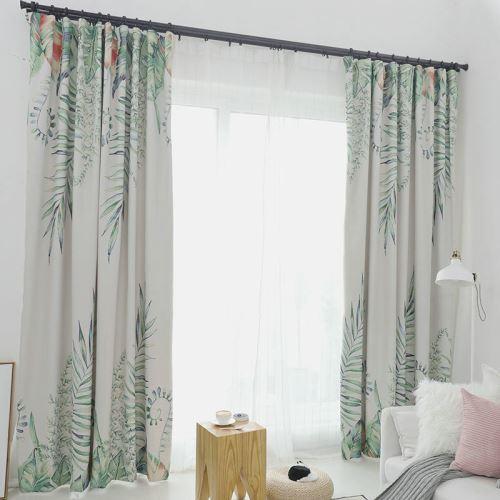 rideau occultant imprime feuille pour chambre a coucher salon simple moderne