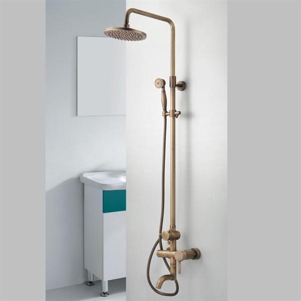 Entrept UE Robinet De Douche En Laiton Antique Mitigeur Pour Salle De Bains Toilettes Pas