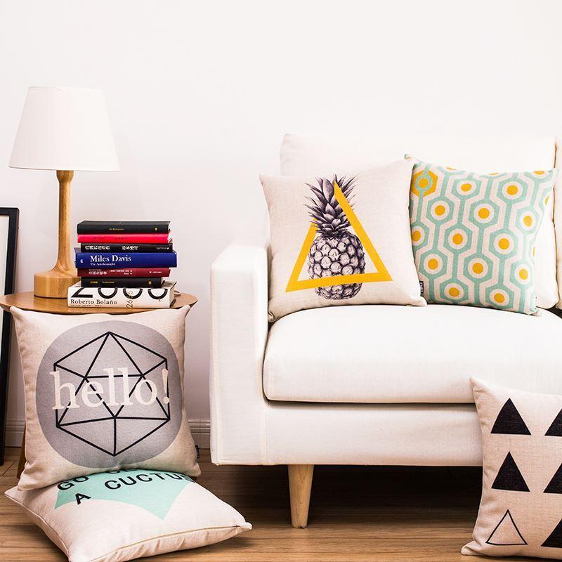 Maison Textile Coussins Dcoratifs En CotonLin