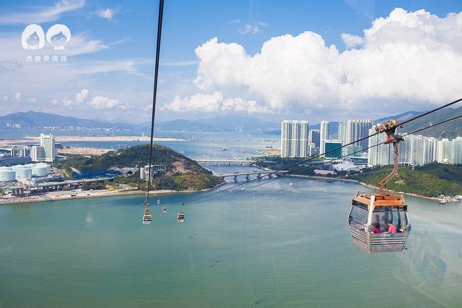 香港自由行,情侶必訪景點,昂坪360纜車,一次打包山海景夕陽落日