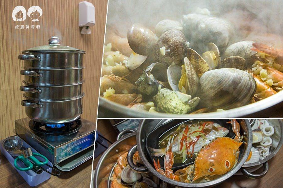 蒸品鮮汕頭沙茶爐(高雄美食)蒸的鍋物!不用飛去韓國就能吃到海鮮塔
