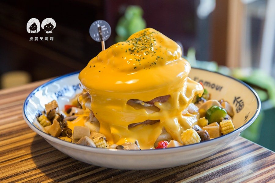 44Bit 拍拍咖啡Cafe Lab(台南美食 東區)起司控的聚餐!限量熔岩煎餅塔,充滿綠意的浪漫氛圍