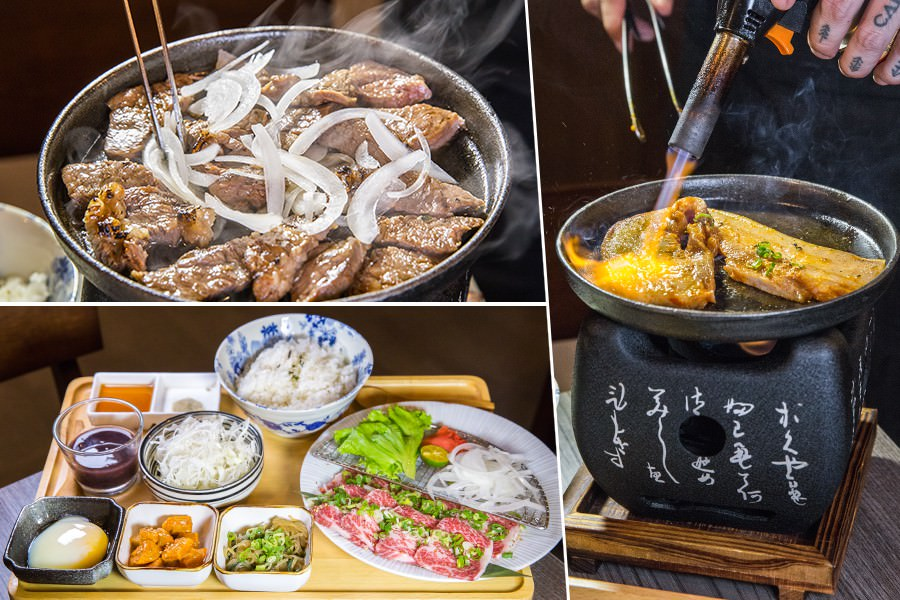 牛丁次郎坊(高雄)肉控聚餐首選!桌邊現烤職人定食,白飯雞湯高麗菜絲免費續