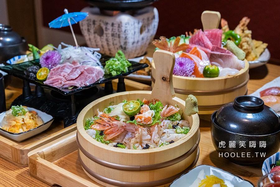 季旬和食(高雄)鳳山新開日式料理店!推薦木盆蝦爆痛風丼,自己烤A5和牛爐上煎定食