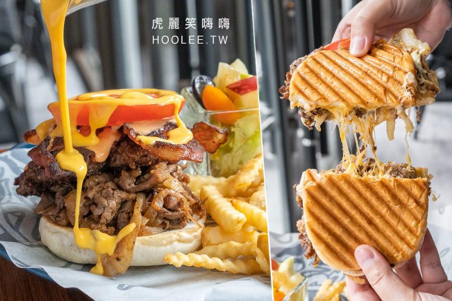 TENWICH(高雄)肉控聚餐好去處!牽絲壓烤三明治堡,超犯規爆漿起司牛肉漢堡
