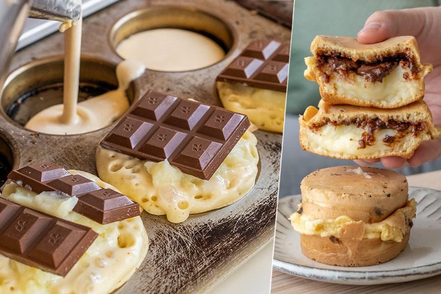 微笑紅豆餅(高雄)武廟超隱藏人氣攤車!一整塊巧克力的爆漿奶油餅,甜食控必吃下午茶點心