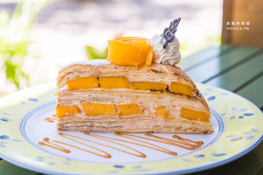 亞力的家法式薄餅(高雄)女神千層蛋糕,新品必吃!夢幻玫瑰捧花甜點