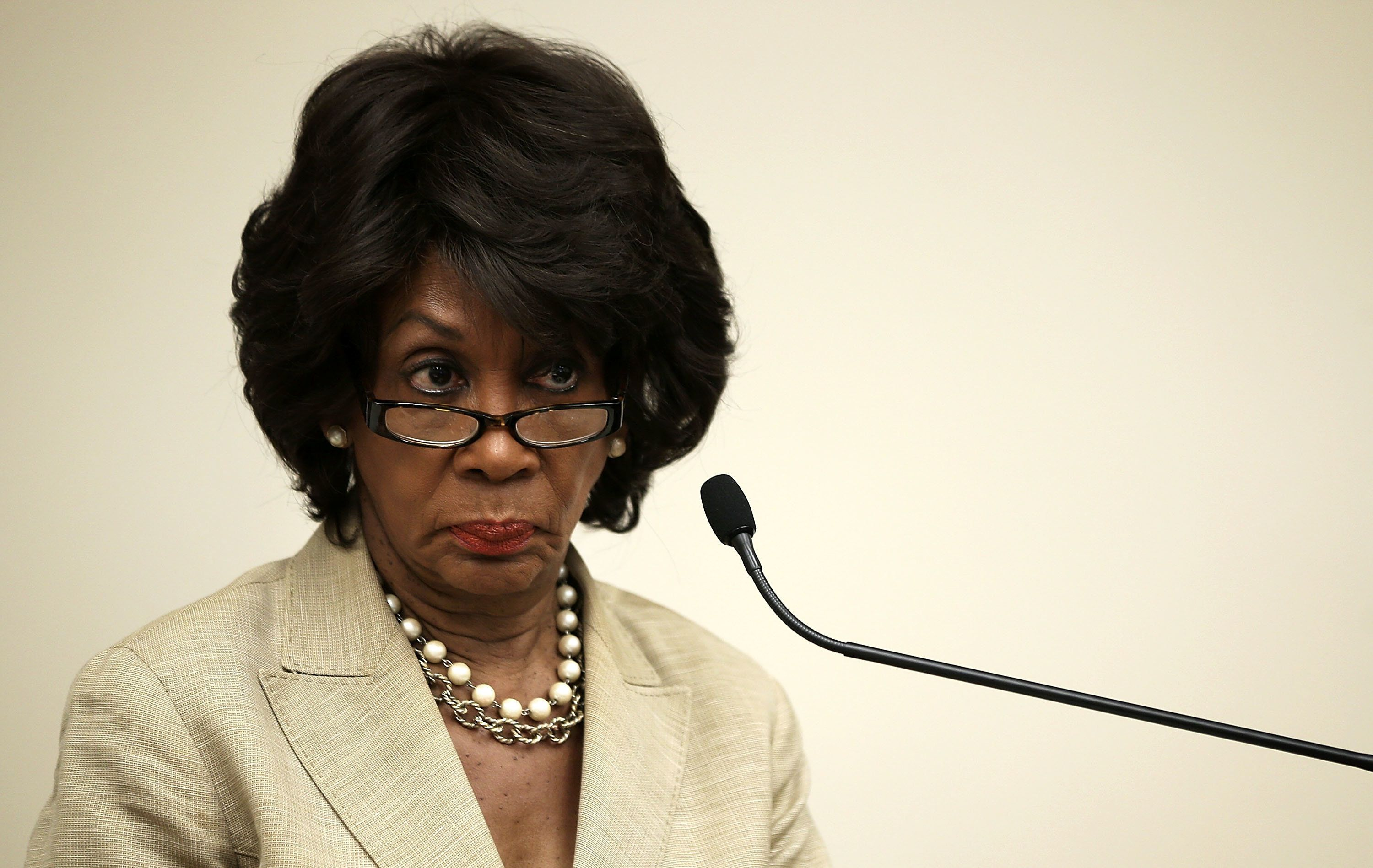 """<span class='image-component__caption' itemprop=""""caption"""">Rep. Maxine Waters (D-Calif.), pictured, along with Sens. Sherrod Brown (D-Ohio) and Elizabeth Warren (D-Mass.), have criticized HUD'sproposal</span>"""