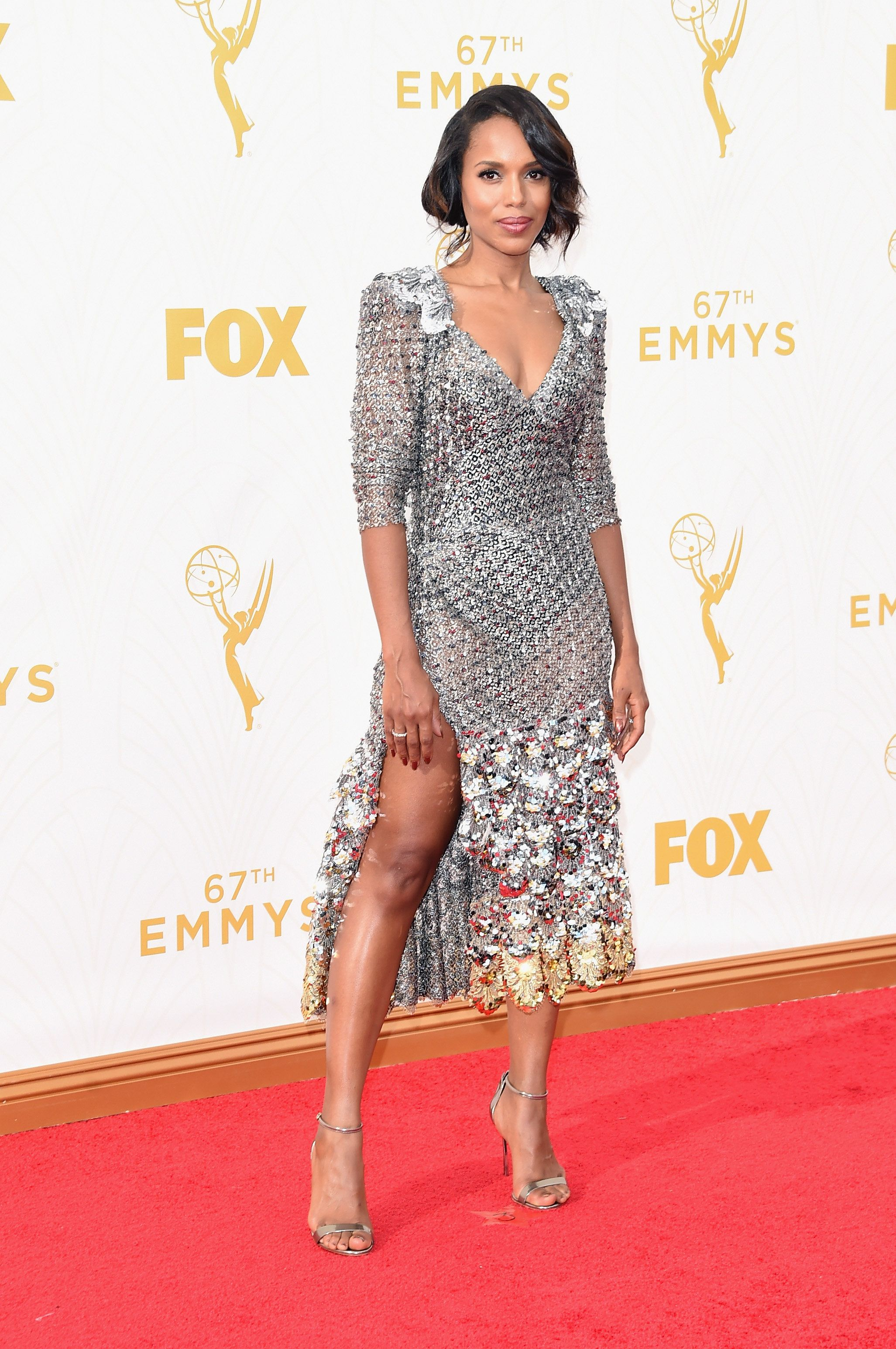 "<span class='image-component__caption' itemprop=""caption"">LOS ANGELES, CA - SEPTEMBER 20: Actress Kerry Washington attends the 67th Annual Primetime Emmy Awards at Microsoft Theater on September 20, 2015 in Los Angeles, California. (Photo by Jason Merritt/Getty Images)</span>"