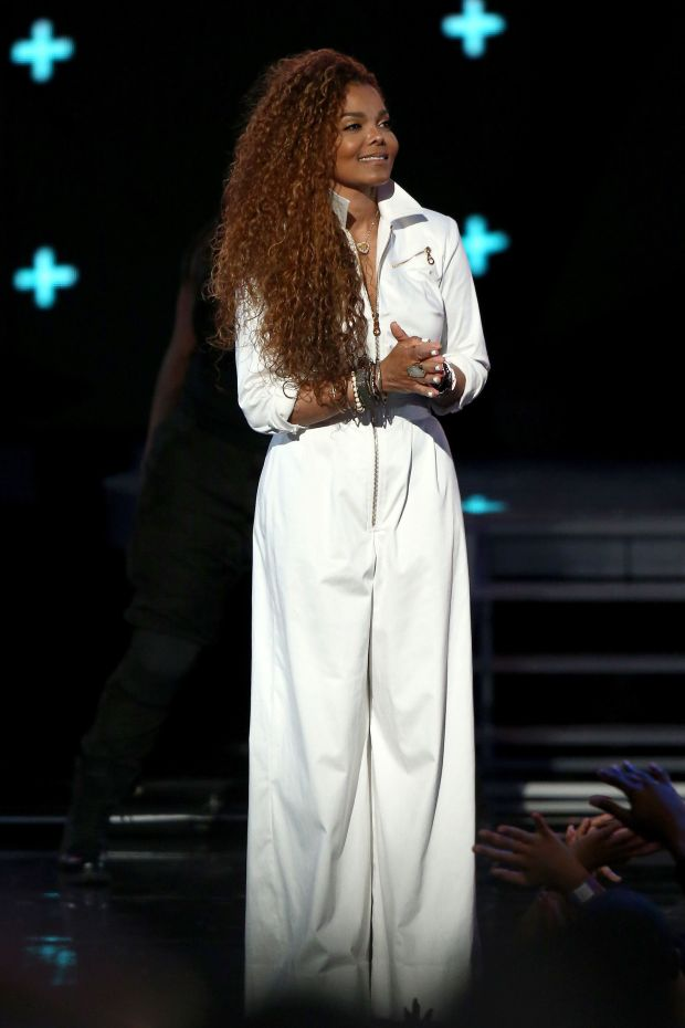 Accepting the Ultimate Icon Award onstage during the BET Awardsin Los Angeles.