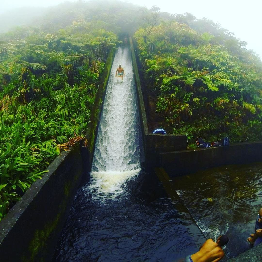 Theres An Incredible And Super Illegal Waterslide Hidden