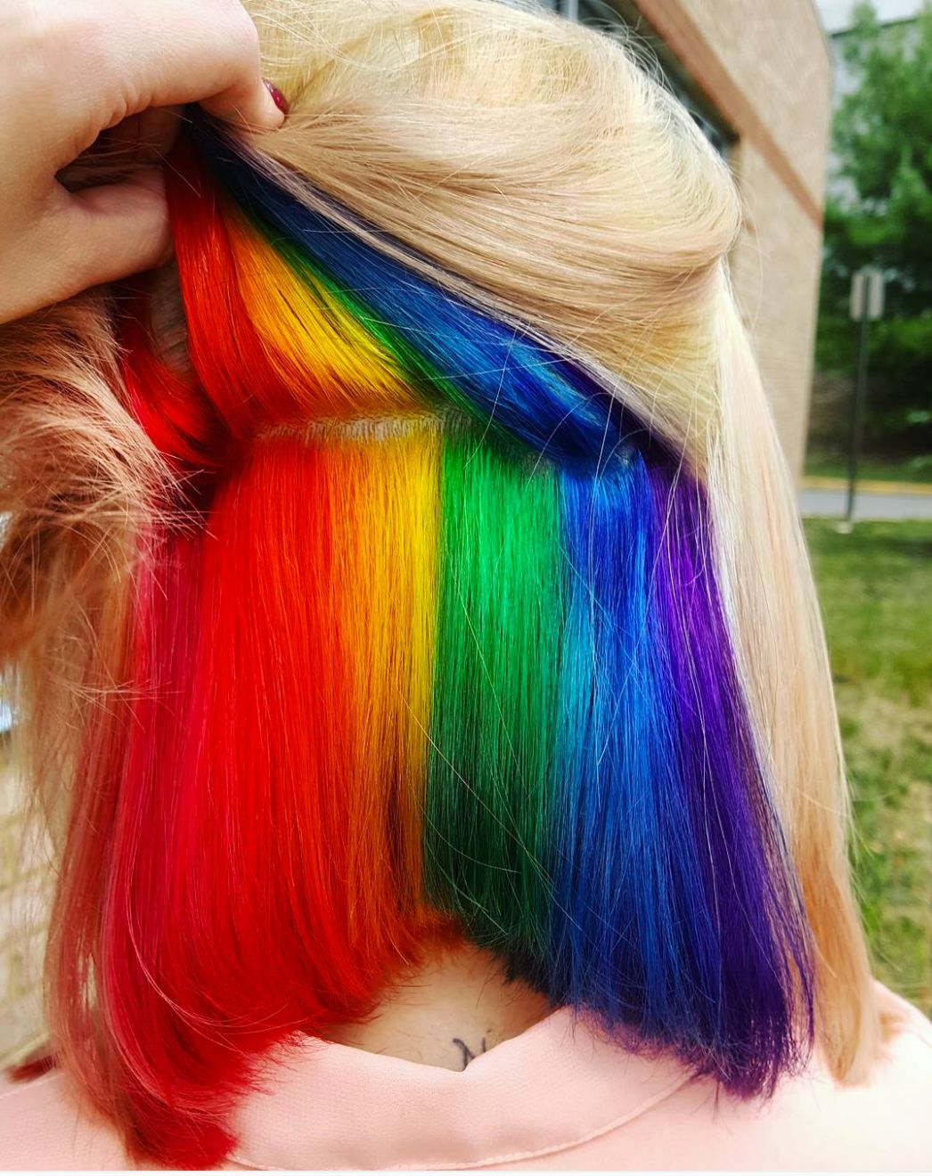 Hidden Rainbow Hair Is A Trend You Wont See Coming