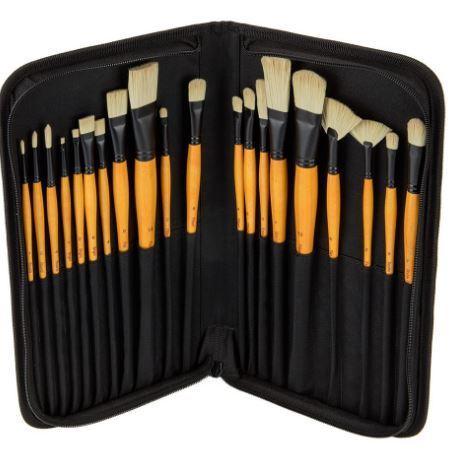 "Mimik Hog Synthetic Brush Set<a href=""http://www.jerrysartarama.com/brushes-tools/acrylic-and-oil-brushes/creative-mark-oil-a"