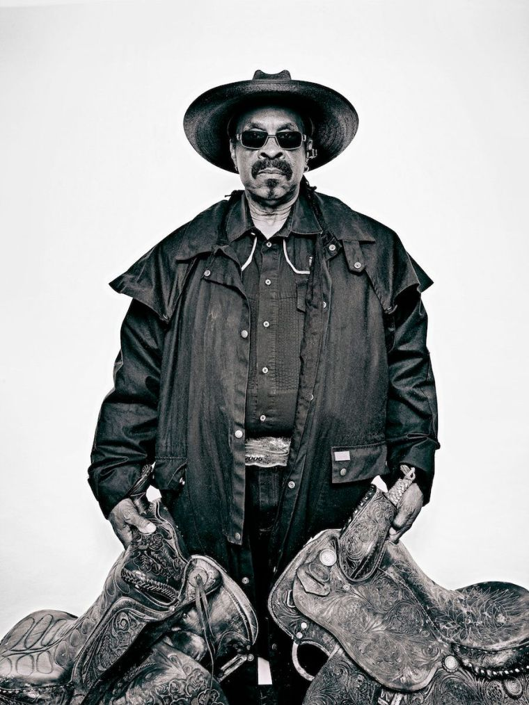 """Brad Trent, """"Arthur 'J.R.' Fulmore, from 'The Federation of Black Cowboys'"""" series for The Village Voice, 2016<br>ink jet pri"""