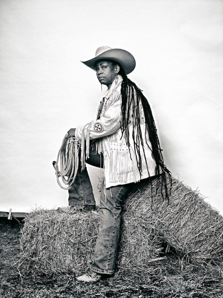 """Brad Trent, """"'Mama' Kesha Morse from 'The Federation of Black Cowboys'"""" series for The Village Voice, 2016, ink jet print, 22"""