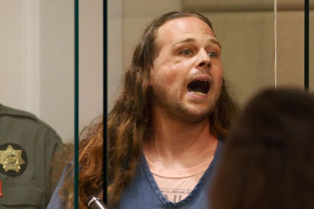 Jeremy Christian, accused of fatally stabbings two menwho tried to stop Christian from harassing two young black women