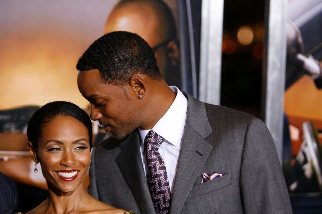"Will Smith and Jada Pinkett Smith at the premiere of ""Lakeview Terrace"" in New York on Sept. 15, 2008."
